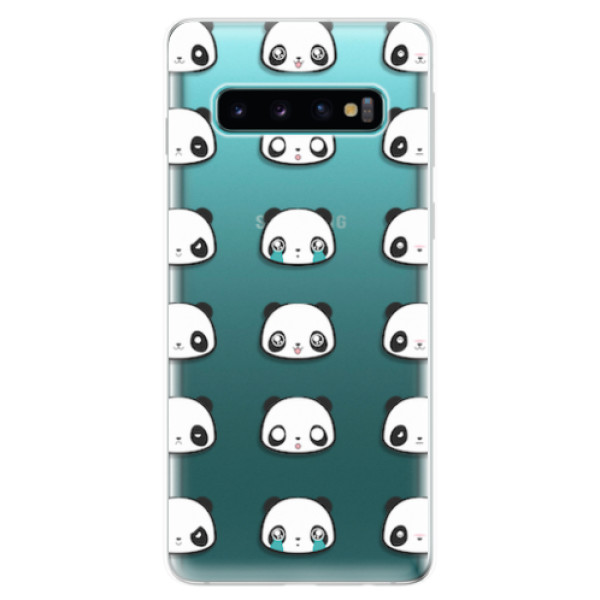 Odolné silikonové pouzdro iSaprio - Panda pattern 01 - Samsung Galaxy S10