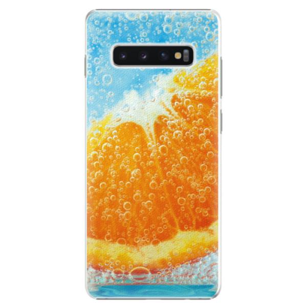 Plastové pouzdro iSaprio - Orange Water - Samsung Galaxy S10+