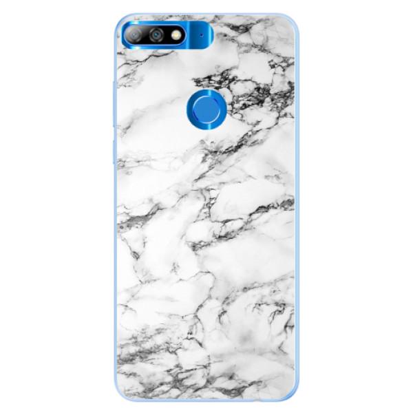 Silikonové pouzdro iSaprio - White Marble 01 - Huawei Y7 Prime 2018