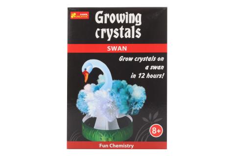 Rostoucí krystaly labuť