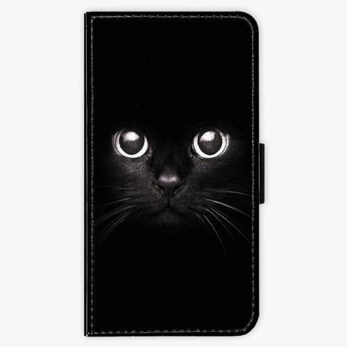 Flipové pouzdro iSaprio - Black Cat - Lenovo Moto G4 / G4 Plus