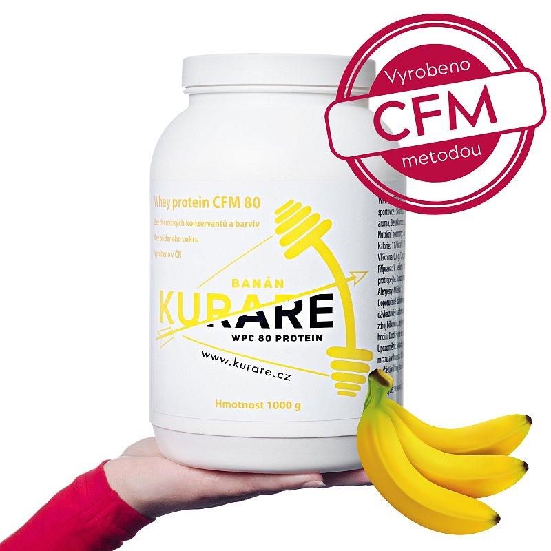 Kurare WPC 80 CFM protein - Banán