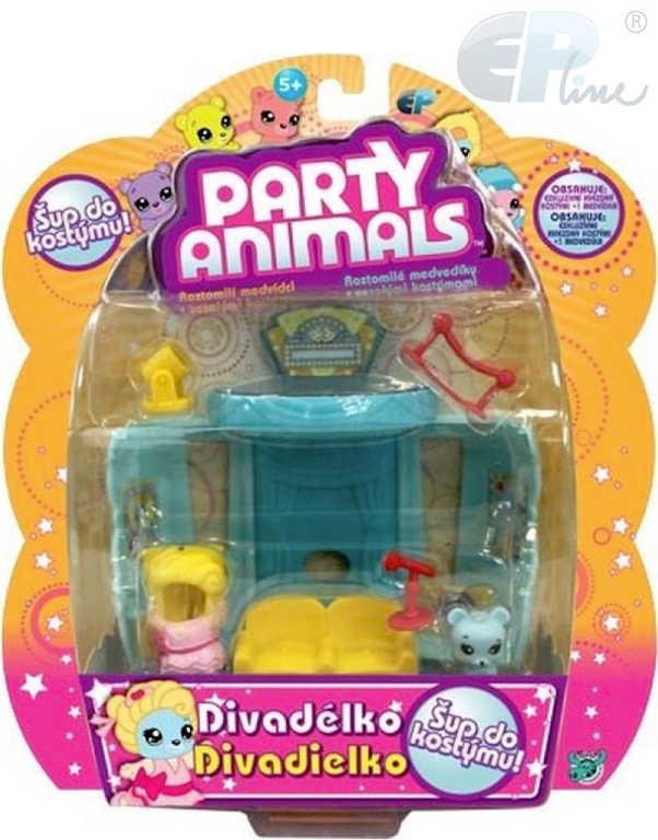 EP Line Party Animals hrací sada medvídek s kostýmem a doplňky - 3 druhy