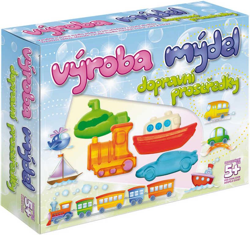 Výroba mýdel Dopravní prostředky kreativní dětská sada pro výrobu mýdla