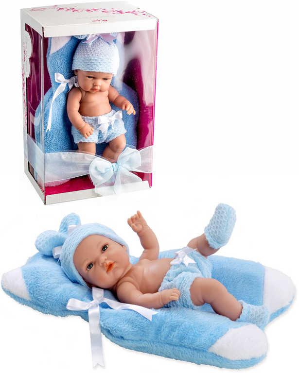 Panenka Arias miminko smějící se vonící 33cm tvrdé tělo set s dečkou v krabici
