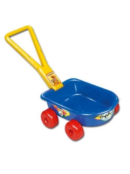 Dětský vozík - červený - červená