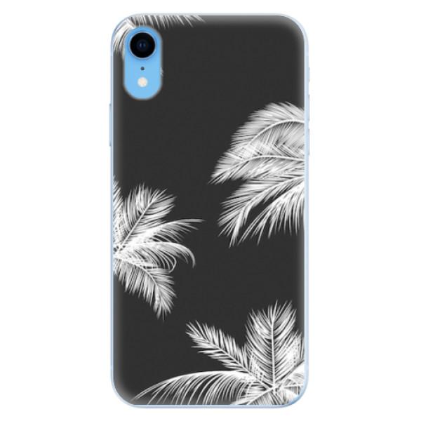 Odolné silikonové pouzdro iSaprio - White Palm - iPhone XR