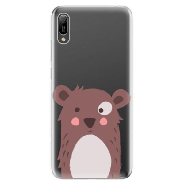 Odolné silikonové pouzdro iSaprio - Brown Bear - Huawei Y6 2019