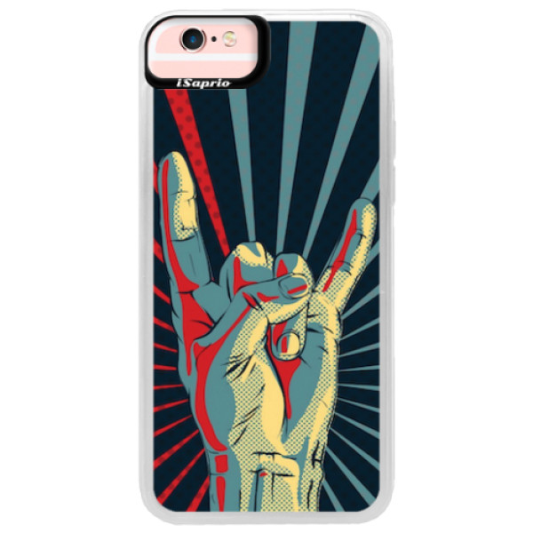 Neonové pouzdro Pink iSaprio - Rock - iPhone 6/6S