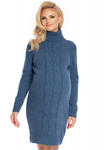 Be MaaMaa Těhotenské šaty - svetříkové, jeans - UNI