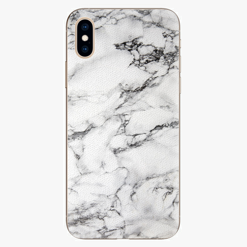 Silikonové pouzdro iSaprio - White Marble 01 - iPhone XS