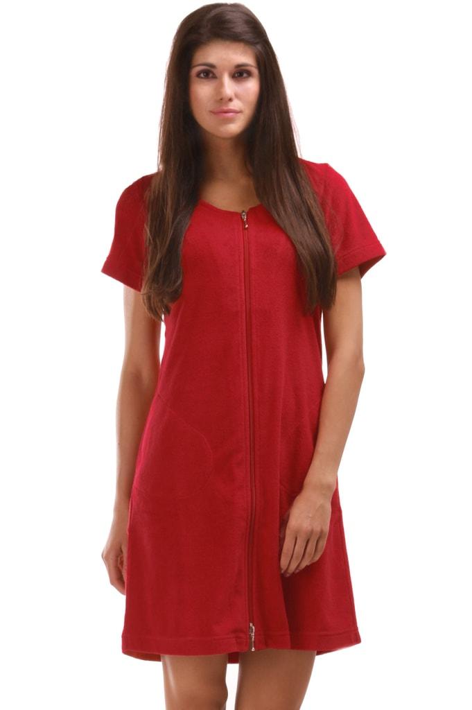 Plážové wellness šaty VESTIS Bari 51643551 s krátkým rukávem červené - S