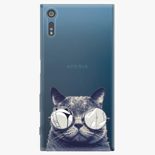 Plastový kryt iSaprio - Crazy Cat 01 - Sony Xperia XZ