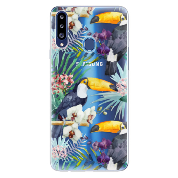 Odolné silikonové pouzdro iSaprio - Tucan Pattern 01 - Samsung Galaxy A20s
