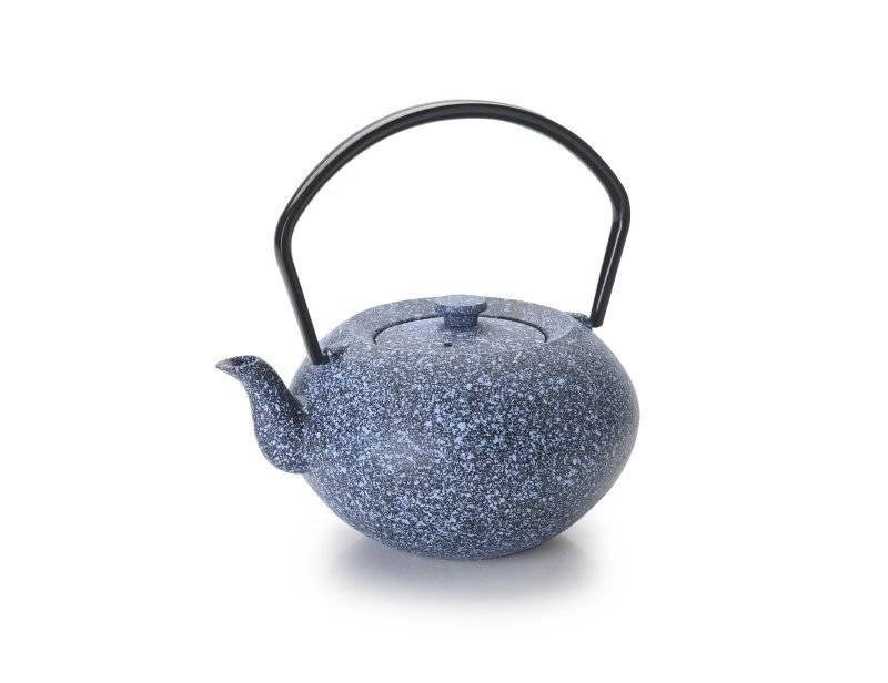 Konvička na čaj modrá 450ml