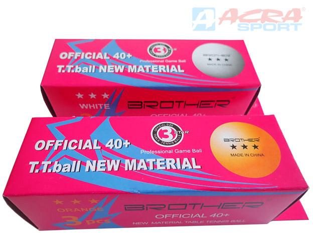 ACRA Míčky Double Happines 40mm set 3ks na stolní tenis závodní kategorie