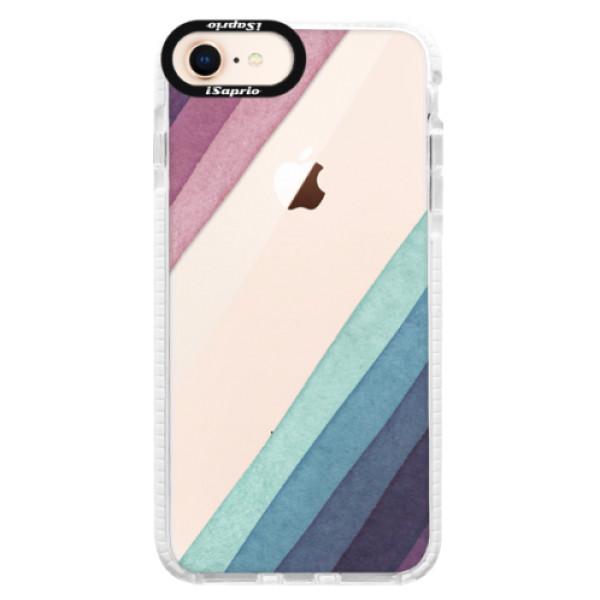 Silikonové pouzdro Bumper iSaprio - Glitter Stripes 01 - iPhone 8