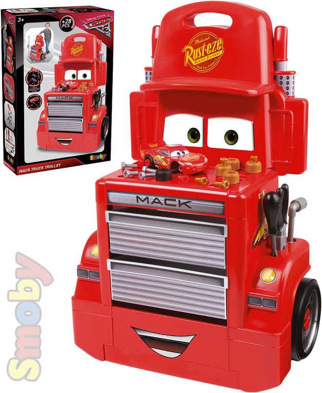 SMOBY Mac Truck pojízdná dílna Cars 3 (Auta) set s nářadím a autíčkem plast