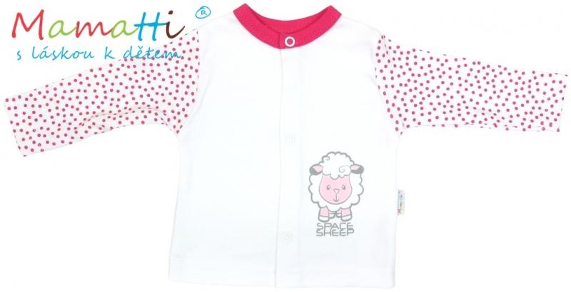 bavlnena-kosilka-mamatti-sheep-bila-cervene-puntiky-74-6-9m