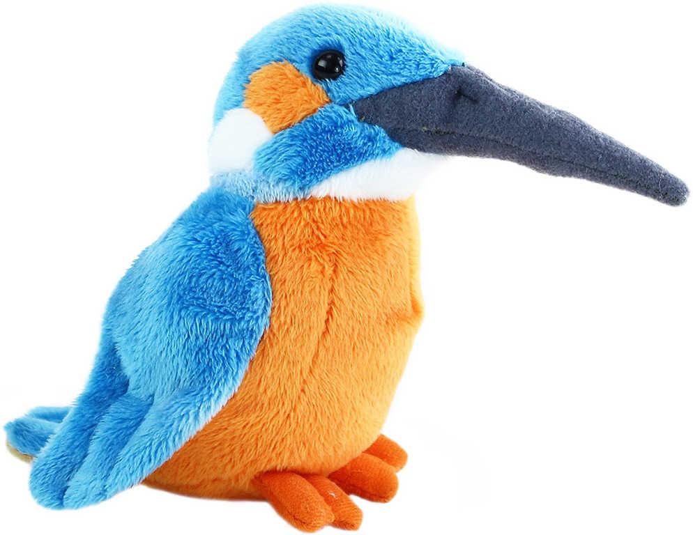 PLYŠ Ledňáček 12 cm plyšový ptáček