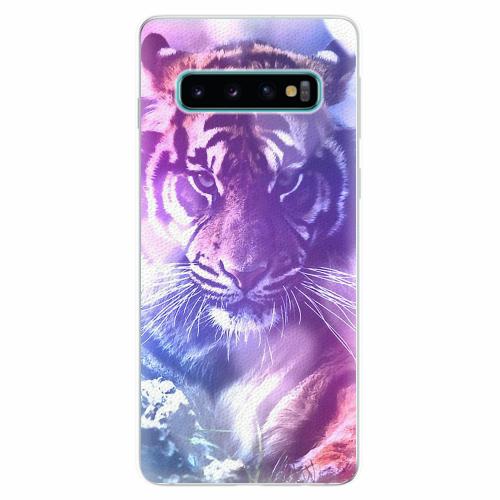Silikonové pouzdro iSaprio - Purple Tiger - Samsung Galaxy S10
