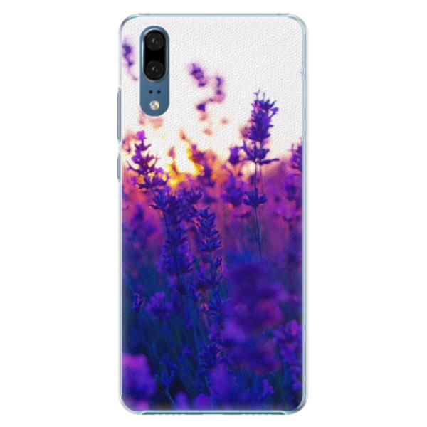 Plastové pouzdro iSaprio - Lavender Field - Huawei P20