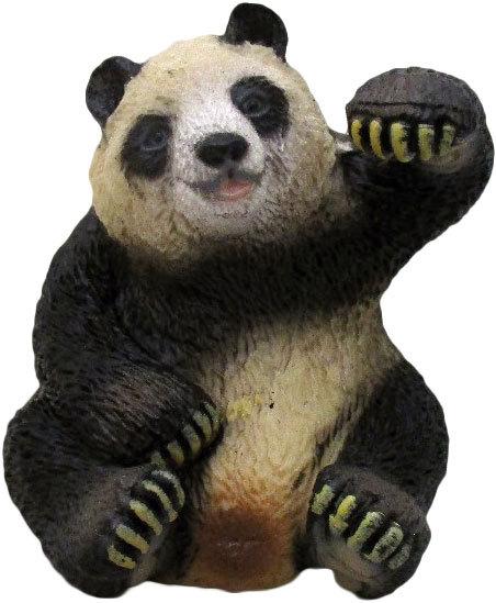 Panda 5,5cm zvířátko Safari ručně malované plastové