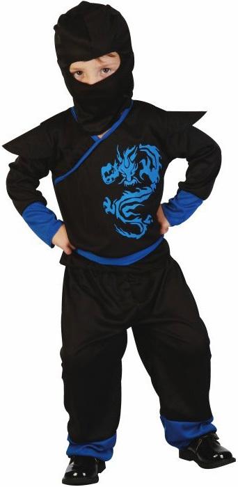 KARNEVAL Šaty Ninja vel. XS (92-104cm) 3-4 roky KOSTÝM
