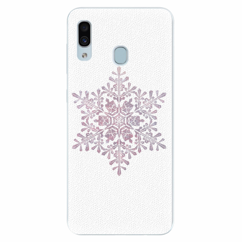 Silikonové pouzdro iSaprio - Snow Flake - Samsung Galaxy A30