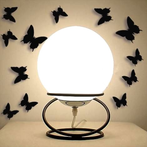 3D motýlci na zeď - černá