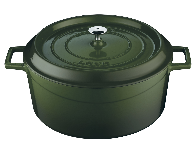 Litinový hrnec kulatý 32cm - zelený