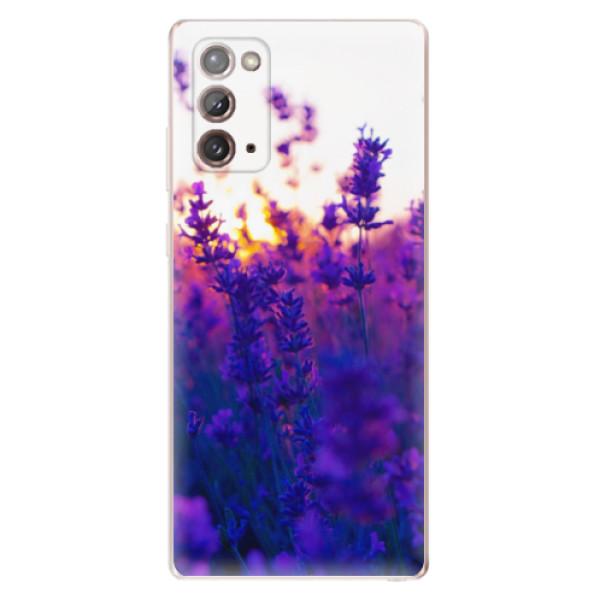 Odolné silikonové pouzdro iSaprio - Lavender Field - Samsung Galaxy Note 20