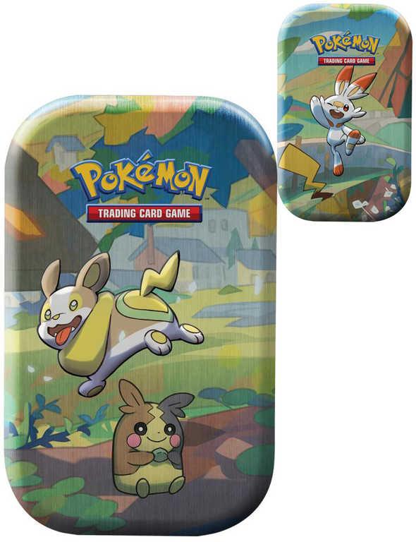 ADC Pokémon Galar Pals Mini Tin krabička plechová s kartami a mincí různé druhy