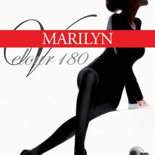 Dámské punčochové kalhoty Velour 180 - Marilyn - Nero/1/2