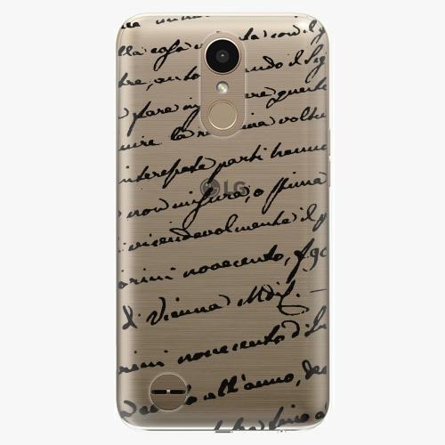 Plastový kryt iSaprio - Handwriting 01 - black - LG K10 2017