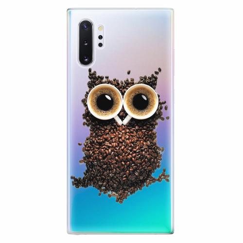Silikonové pouzdro iSaprio - Owl And Coffee - Samsung Galaxy Note 10+