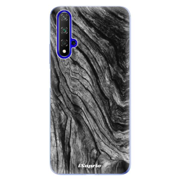 Odolné silikonové pouzdro iSaprio - Burned Wood - Huawei Honor 20