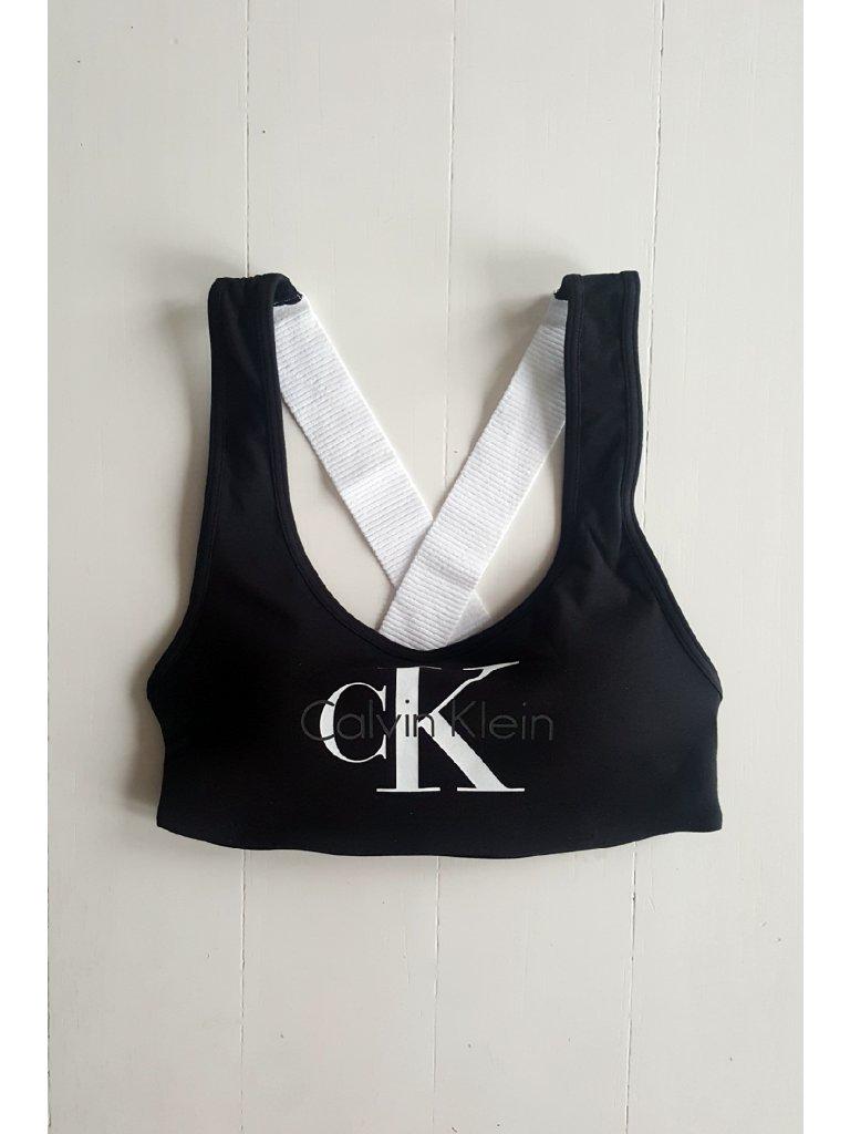 Podprsenka sportovní Bralette Lightly Lined QF1643E-001 černá - Calvin Klein - Černá/S