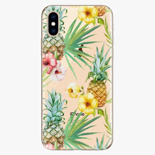 Silikonové pouzdro iSaprio - Pineapple Pattern 02 - iPhone XS