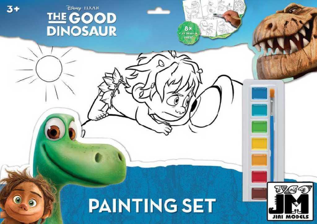 JIRI MODELS Omalovánky A3 set s vodovkami a štětcem Hodný Dinosaurus
