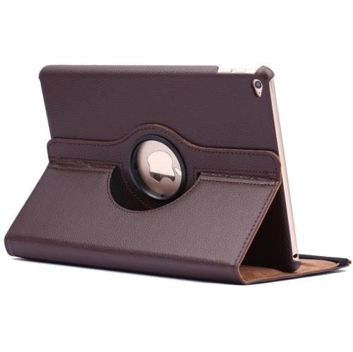 Kožený kryt / pouzdro Smart Cover Rotation Litchi pro iPad Air 2 hnědý