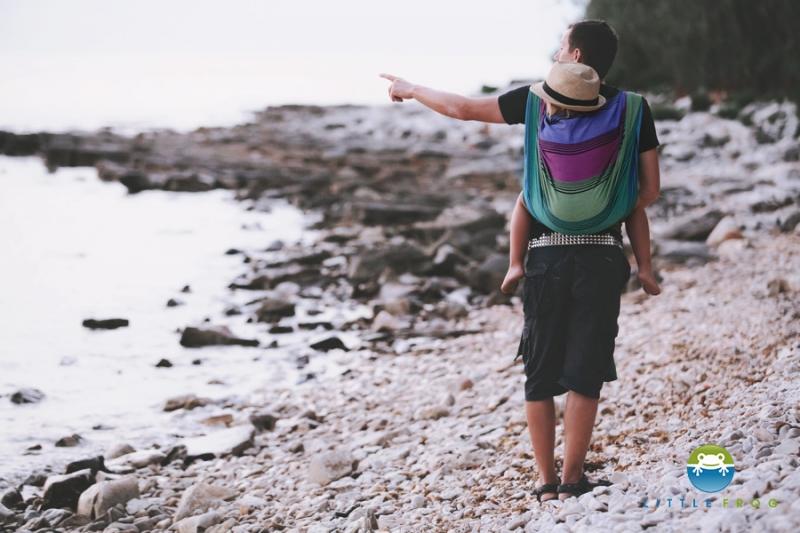 Little FROG Tkaný šátek na nošení dětí - TENORITE - XL - XL (42)