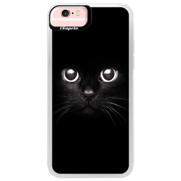 Neonové pouzdro Pink iSaprio - Black Cat - iPhone 6/6S