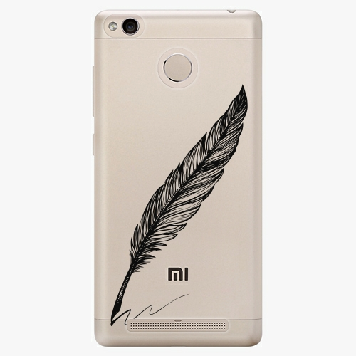 Plastový kryt iSaprio - Writing By Feather - black - Xiaomi Redmi 3S