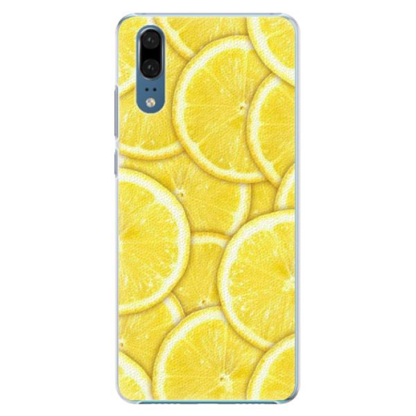 Plastové pouzdro iSaprio - Yellow - Huawei P20