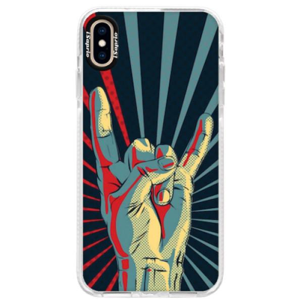 Silikonové pouzdro Bumper iSaprio - Rock - iPhone XS Max