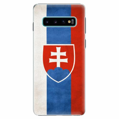 Plastový kryt iSaprio - Slovakia Flag - Samsung Galaxy S10