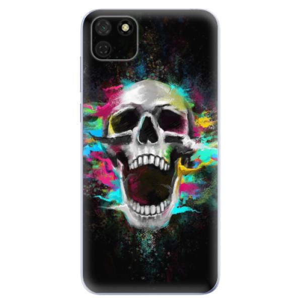 Odolné silikonové pouzdro iSaprio - Skull in Colors - Huawei Y5p