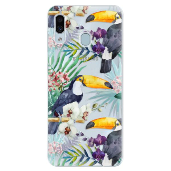 Silikonové pouzdro iSaprio - Tucan Pattern 01 - Samsung Galaxy A30