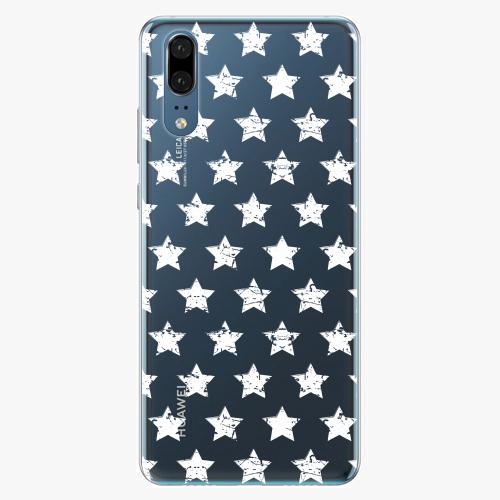 Silikonové pouzdro iSaprio - Stars Pattern - white - Huawei P20